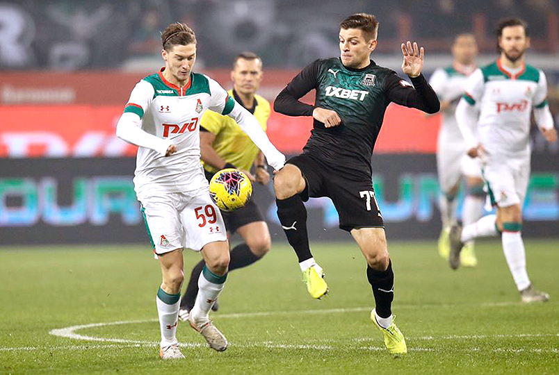 Lokomotiv and Krasnodar play in a draw